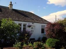 front view of luxury holiday cottage near Stirling